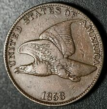 1858-P LL Copper-Nickel Flying Eagle Cent ~ VERY FINE ~ Free Shipping ~ 1c START
