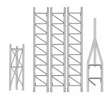 ROHN 25SS040 25G Series 40' Self Supporting Tower Kit