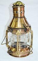 "Antique Brass Ship Oil Lantern Lamp For Home Decor Decorative 15"""