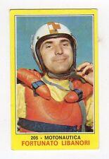 figurina PANINI CAMPIONI DELLO SPORT 1970-71 N. 205 MOTONAUTICA LIBANORI