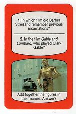 1980s UK TV Times Card Star Wars Robots  R2-D2 and C-3PO