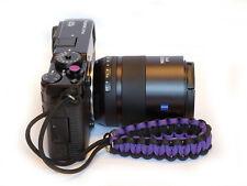 Purple Selens Concave soft release button + Paracord Wrist Strap Fuji XT2, XPro2