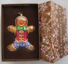 Jay Strongwater Jeweled Gingerbread Man Ornament Swarovski Elements New in Box
