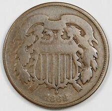 1868 2 Cent Piece.  Circulated.  166708
