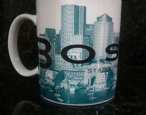 STARBUCKS City 2002 Boston Beantown Coffee Large Mug Cup Skyline Series One