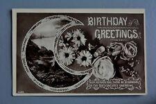R&L Postcard: Greetings, Davidson Bros Lakeland Countryside Rose Flower Scene