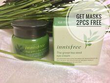 Innisfree Green Tea Seed Eye Cream 30ml with Mask 2pcs Free