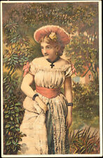c1890 Bartholomay's Rochester Girl Beer Tradecard New York Bridgeport Ct Schmitz