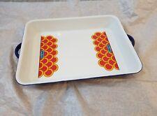 Peter Max Blue Enamel Lasagna Pan Rare : Ernest Sohn Japan