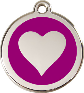 Stainless Steel Red Dingo ID Dog Tag Black Purple Blue Green Yellow Red Pink