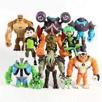 11PCS Ben 10 Action Figures Toy Tennyson Four Arms Heatblast Toy Gift CakeTopper