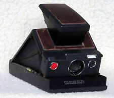Polaroid SX-70 SLR. Land Camera Model 2. Black. Brown Leather. Leather carry bag