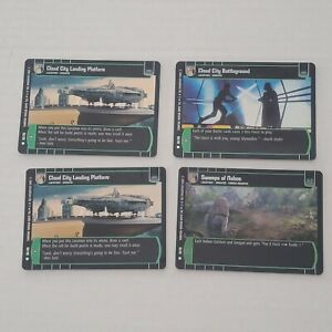 Star Wars TCG WOTC - 4 Card Common Foil Lot of Ground Locations