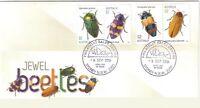 2016 FDC Australia. Jewel Beetles. Various FDI Postmarks