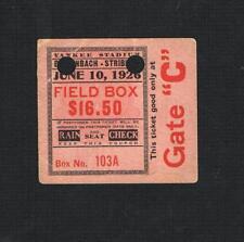 VERY RARE 1926 Young Stribling Berlenbach boxing ticket McVey Munn Boykin Baker