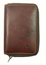 Tony Perotti Italian Vegetale Leather Zip Around 6 Key Holder Brown TP5209