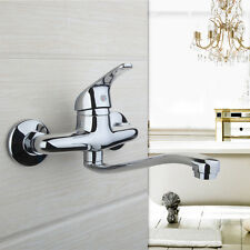 Single Handle Wall Mounted Water Taps Bathroom Faucet Basin Mixer Sink Tap