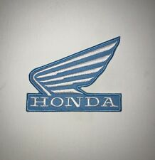 Honda wing Iron on/ Sew on Patch Biker Motorcycle