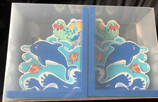 New & Boxed Lanka Kade DOLPHIN Book Ends In Excellent Condition