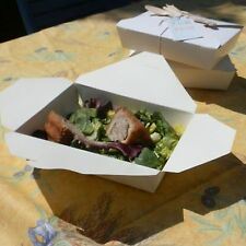 White Card Picnic Food Takeaway Boxes - Pack of 10