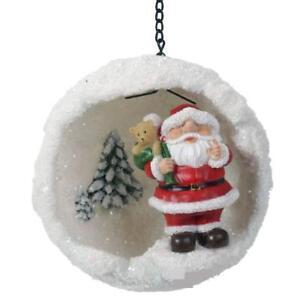 Vivid Arts - Mini Hanging Snowball - Santa - Tree Ornament/Decoration