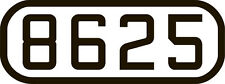 Number Board DECALS ShellScale HO115