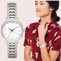 NWT in Box 💎 Kate Spade NY KSW1505 Rosebank Silver Tone Stainless 32mm Watch
