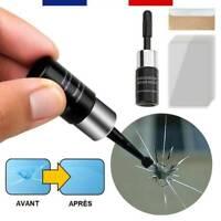 Kit Réparation Résine Pour Verre Fissuré Rayé Éclat Pare-Brise Écran Smartphone