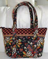 VERA BRADLEY Small Paddy Zip Tote Bag - Vintage ANASTASIA Black - NEW Condition