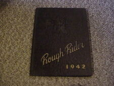 1942 Kent Roosevelt Rough Rider Highschool Yearbook (Kent Ohio) / Free Shipping!