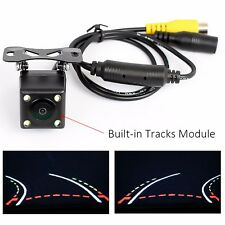 Car Dynamic Trajectory Rear View Camera With 4 IR Night Vision Back Up Monitor