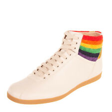 RRP €650 GUCCI Leather Sneakers Size 45.5 UK 11.5 US 12.5 Rainbow Made in Italy
