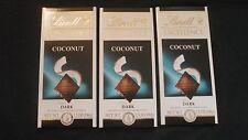 3 Lindt Excellence Coconut Dark Chocolate Bars 3.5 Oz Each Yummy!
