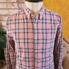 J. Crew Plaid Button Down Cotton Shirts Large Lot 2