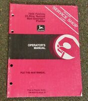 John Deere 7000 Folding 24 Row Narrow Max-Emerge Planter Operator's Manual