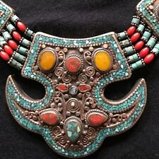 Vintage Handcrafted Tibetan Bib Boho Necklace