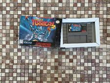 Super Turrican 2 SNES With Box!! No Manual!!!