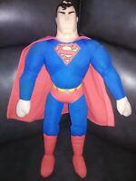 "1998 DC Comics 13"" Superman Plush Doll Vinyl Head RARE good condition"