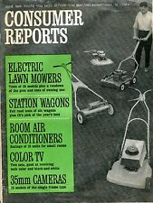 Consumer Reports Magazine June 1965 Electric Lawn Mowers VG No ML 090916jhe