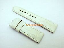 Panerai White Alligator Strap 24mm by 22mm for Luminor 44mm New !