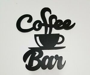 Rustic Country Kitchen Farmhouse décor Coffee Bar retro wood wall Cut out Sign