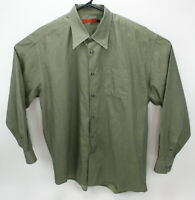 Axis men's l/s green shirt size large  Made in Italy