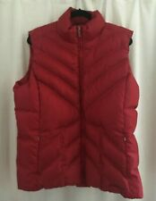 Eddie Bauer Premium Packable Goose Down Quilted Vest Mens XXL 2XL Red Pockets