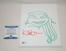 KEVIN EASTMAN SIGNED AUTOGRAPHED SKETCHED TMNT 8x10 CANVAS BAS COA D39842 proof