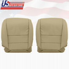 2005 2006 Acura TL Driver & Passenger Bottom Seat Cover Perforated Leather TAN