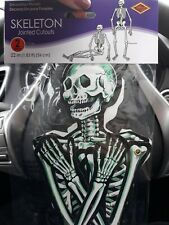 """New vintage Beistle 22"""" Diecuts Skeletons 2 Halloween Decor Jointed Cutouts"""