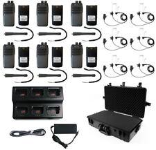 QTY6 SRcommunications SR-D1U 400-470MHz 256Ch digital/analog DMR radio Headsets