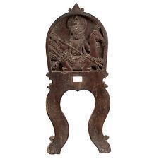 Leuven 19. JH. legno-a South Indian wood elemento Murugan-India en bois inde