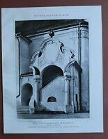 WBe) Architektur Raspenau 1907-1910 Jubiläum Pfarrkirche Stiege Tschechien 24x31
