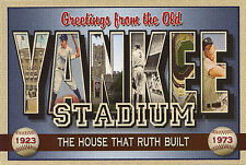 YANKEE STADIUM-New Large Letter Postcard-Signed Larry Fulton-Ltd Ed 100